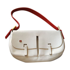 Leather Handbag BALLY White, off-white, ecru