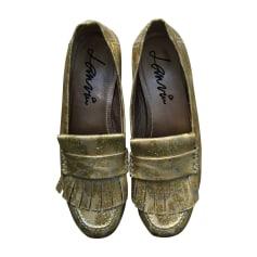 Loafers LANVIN Golden, bronze, copper