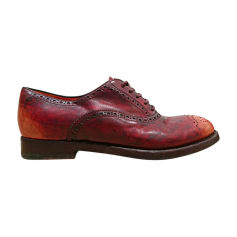 Lace Up Shoes SANTONI Red, burgundy