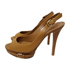 Heeled Sandals GIANVITO ROSSI Beige, camel
