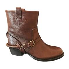 Flat Ankle Boots RALPH LAUREN Brown