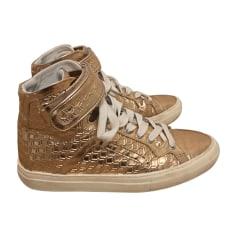 Sneakers PIERRE HARDY Golden, bronze, copper