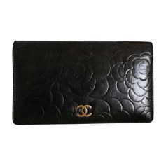 Wallet CHANEL Gray, charcoal