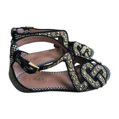 Flat Sandals ALAÏA Golden, bronze, copper