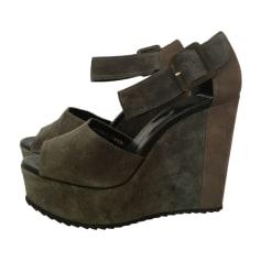 Sandales compensées PIERRE HARDY Vert