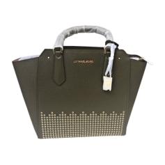 Leather Handbag MICHAEL KORS Khaki