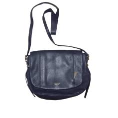 Leather Shoulder Bag LE TANNEUR Blue, navy, turquoise