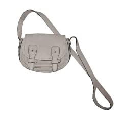 Leather Shoulder Bag LE TANNEUR White, off-white, ecru