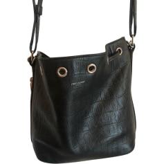 Leather Shoulder Bag SAINT LAURENT Emmanuelle Black