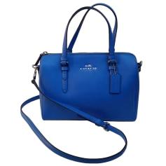 Non-Leather Handbag COACH Blue, navy, turquoise