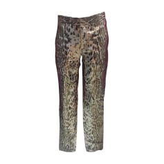 Pantalon droit BARBARA BUI Imprimés animaliers