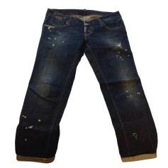 Pantalon slim, cigarette DSQUARED2 Bleu, bleu marine, bleu turquoise
