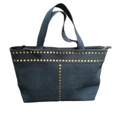 Leather Handbag PETITE MENDIGOTE Blue, navy, turquoise