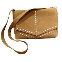 Leather Shoulder Bag PETITE MENDIGOTE Beige, camel