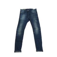Jeans slim DIESEL Bleu vintage vieilli