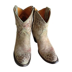 Cowboystiefel, Stiefeletten, Westernstiefel MEXICANA Grün