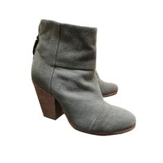 Bottines & low boots à talons RAG & BONE Gris, anthracite
