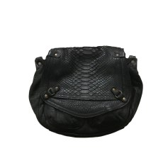 Leather Handbag ABACO Black