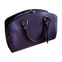 Leather Handbag LOUIS VUITTON Purple, mauve, lavender