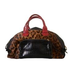 Leather Handbag PAUL KA Animal prints