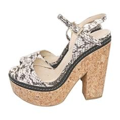 Heeled Sandals JIMMY CHOO Gray, charcoal