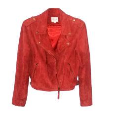 Leather Jacket SÉZANE Red, burgundy