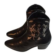 Bottines & low boots à talons SAINT LAURENT Noir