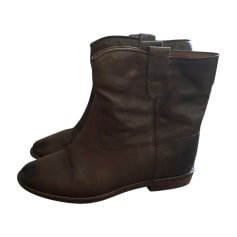 Wedge Ankle Boots ISABEL MARANT ETOILE Brown