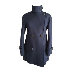 Pea Coat CÉDRIC CHARLIER Blue, navy, turquoise
