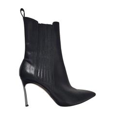 Bottines & low boots à talons CASADEI Noir