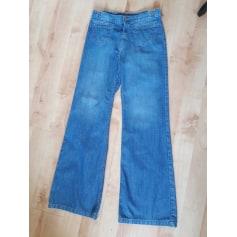 Jeans très evasé, patte d'éléphant ACQUAVERDE Bleu, bleu marine, bleu turquoise