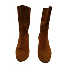 Bottines & low boots à talons MICHEL VIVIEN Beige, camel