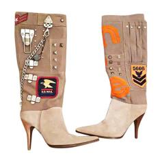 Stivali con tacchi DOLCE & GABBANA Grigio, antracite