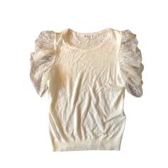 Top, t-shirt CLAUDIE PIERLOT Bianco, bianco sporco, ecru