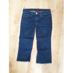Jeans droit LA CITY Bleu, bleu marine, bleu turquoise