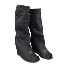 Stivali con tacchi CHANEL Nero