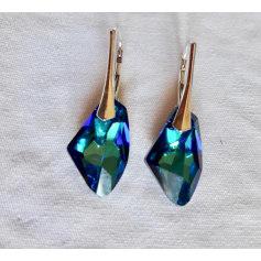 Boucles d'oreille CRISTAL DE SWAROVSKI Bleu, bleu marine, bleu turquoise