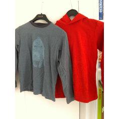 T-shirt PETIT BATEAU orange/ bleu