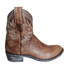 Cowboy Ankle Boots MEXICANA Brown
