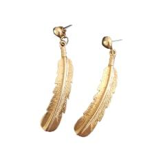 Boucles d'oreille MAJE Doré, bronze, cuivre