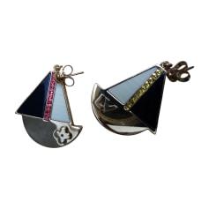 Boucles d'oreille LOUIS VUITTON Doré, bronze, cuivre