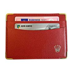 Card Case ROLEX Red, burgundy