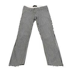 Pantalon droit ISABEL MARANT Striped: dark blue and off white