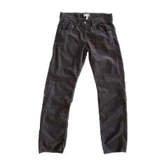 Pantalon droit ISABEL MARANT ETOILE Prune