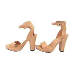 Heeled Sandals TOD'S Beige, camel
