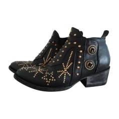 Cowboy Ankle Boots MEXICANA Black