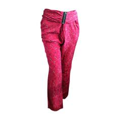 Pantalon droit VANESSA BRUNO Rose, fuschia, vieux rose