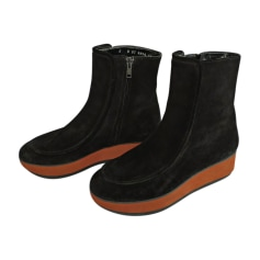 Bottines & low boots à compensés ROBERT CLERGERIE Noir