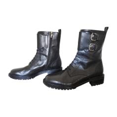 Biker Ankle Boots FRATELLI ROSSETTI Black