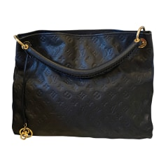 Leather Oversize Bag LOUIS VUITTON Blue, navy, turquoise
